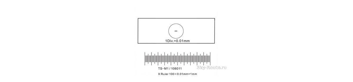 Калибровочный слайд 0.01 мм