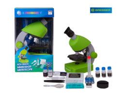 Bresser Junior 40x-640x, зеленый микроскоп