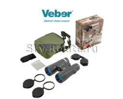 Бинокль Veber Hunter 10х42 black
