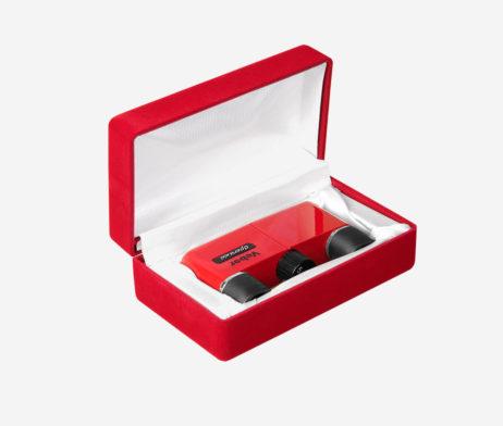 Бархатная подарочная коробка для театрального бинокля