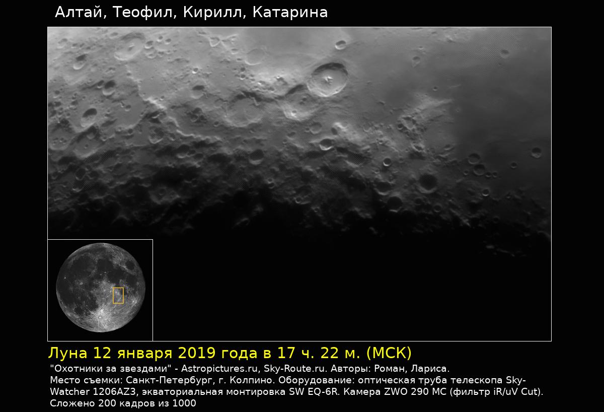 Луна 12 января 2019 года в 17 ч. 22 м.