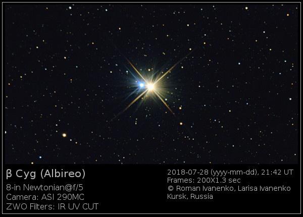 Фотография звезды Альбирео
