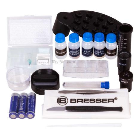 Микроскоп Bresser Junior Biolux SEL 40–1600x фиолетовый