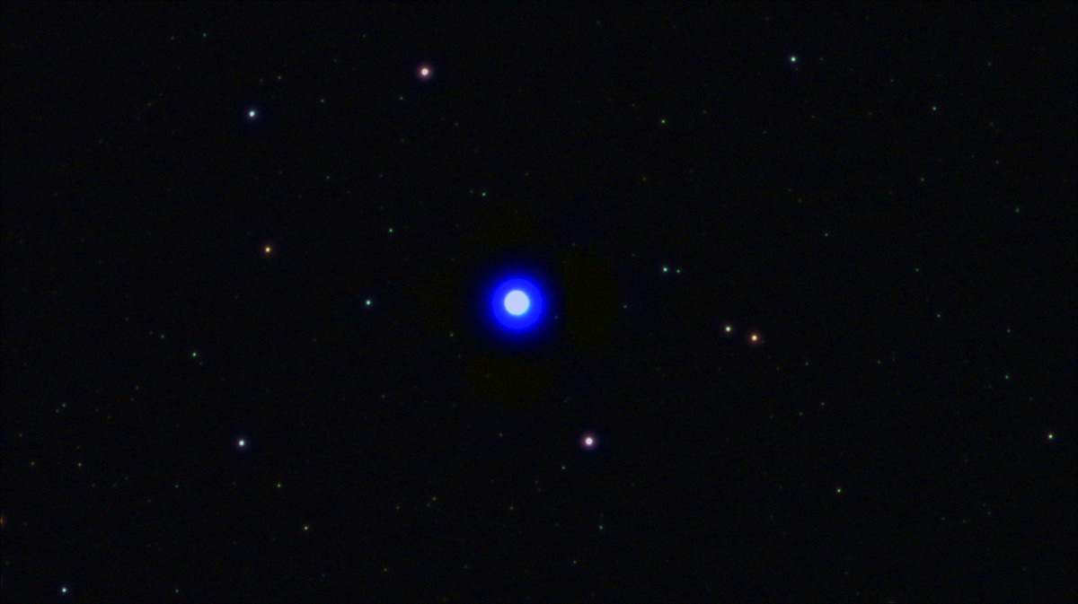 Звезда в телескоп рефрактор.