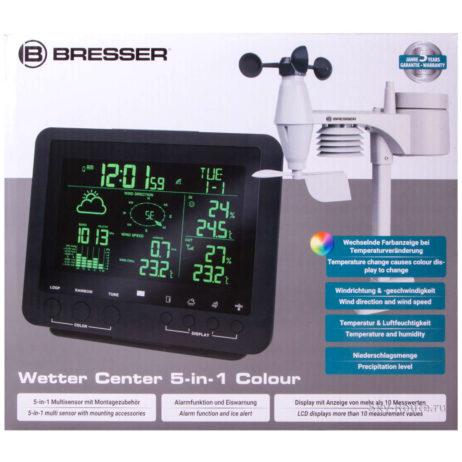 Метеостанция Bresser «5 в 1» с цветным дисплеем черная