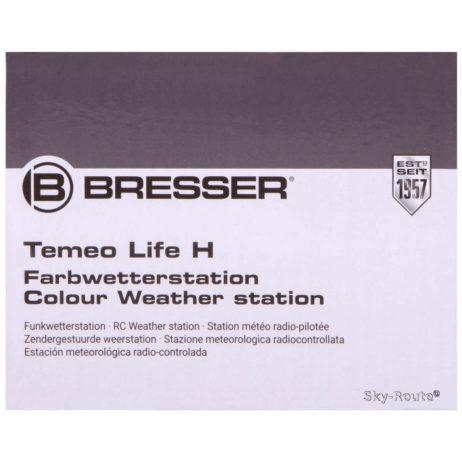 Метеостанция Bresser Temeo Life H с цветным дисплеем черная