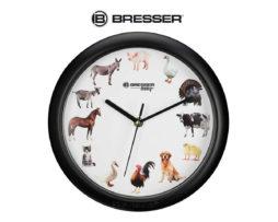 Часы настенные Bresser Junior с животными 25 см