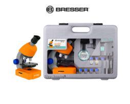 Микроскоп Bresser Junior 40–640x с набором для опытов в кейсе