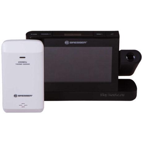 Метеостанция проекционная Bresser с цветным дисплеем черная