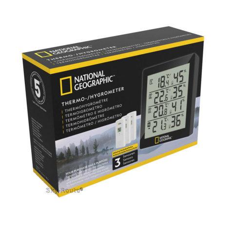 Метеостанция Bresser National Geographic с тремя датчиками черная