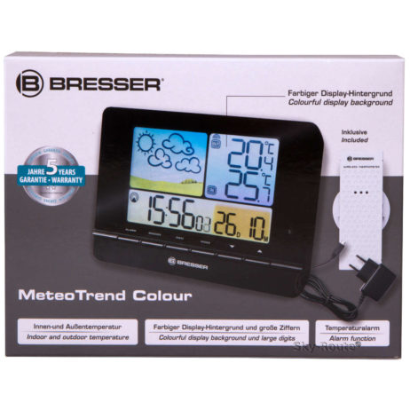 Метеостанция Bresser MeteoTrend Colour с радиоуправлением черная