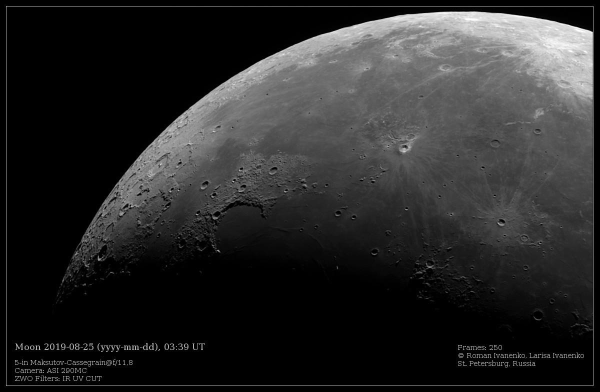 Фото Луны 25 августа 2019 года