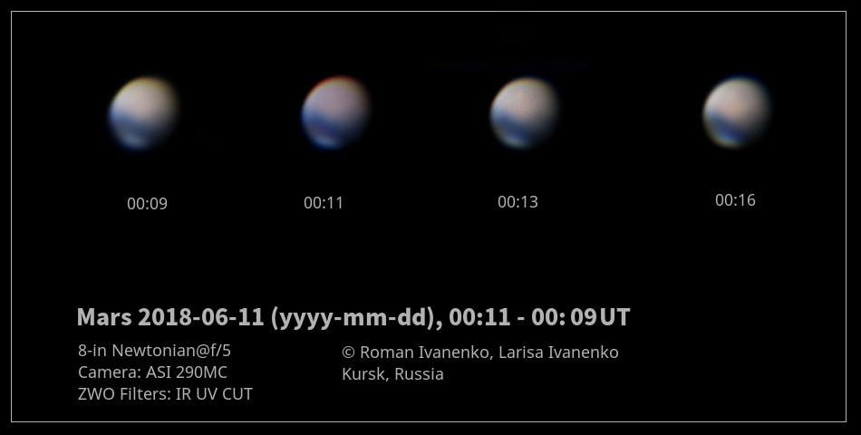 Фото Марса 11 июня 2018 года