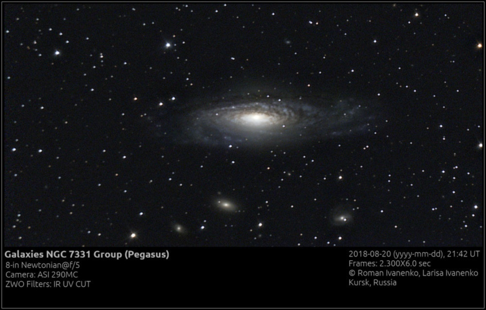Фото группы галактик NGC 7331