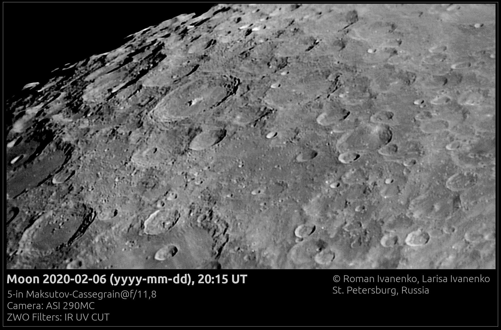 Фото Луны 06 февраля 2020 года