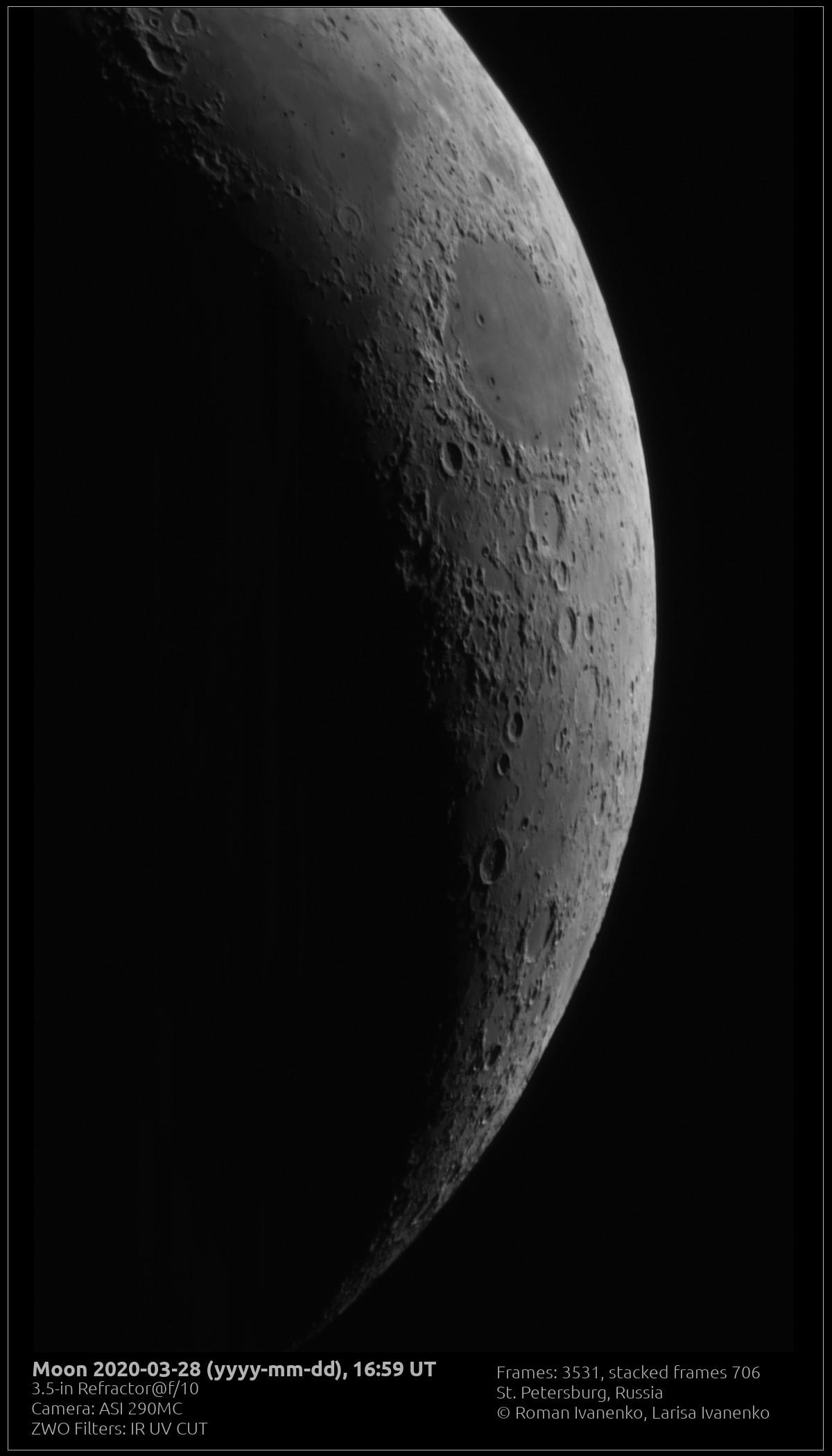 Луна 28 марта 2020 года