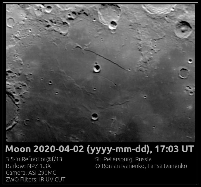 Фото Луны 02 апреля 2020 года