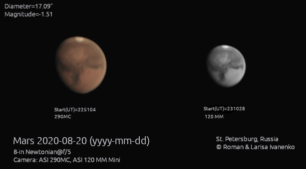 Марс 20 августа 2020 года