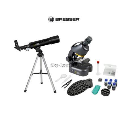 Bresser National Geographic: телескоп 50/360 AZ и микроскоп 40–640x